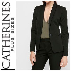 CATHERINES Shawl Collar One Button Blazer/SZ14/16W